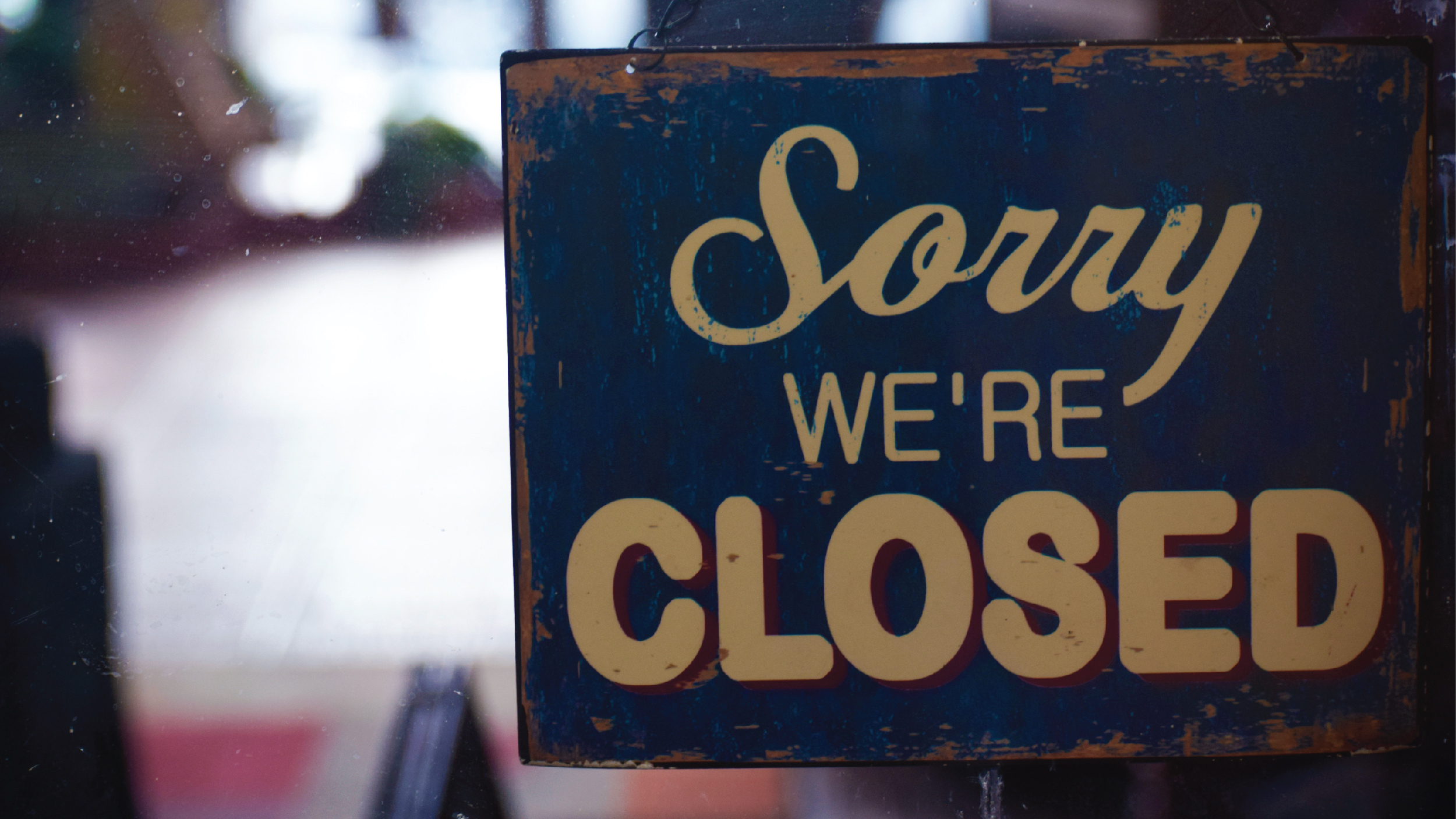 Wewa Films | Sorry, we're closed sign